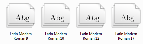 windows system configuration font-family / font names